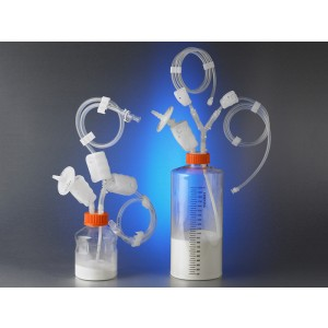 Tapón transferencia aséptico desechable, 48 mm, botellas, 500 g microcarriers, MPC, estéril, 1 Ud.